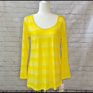 Yellow Striped LuLaRoe Lynnae Brand New with tags!